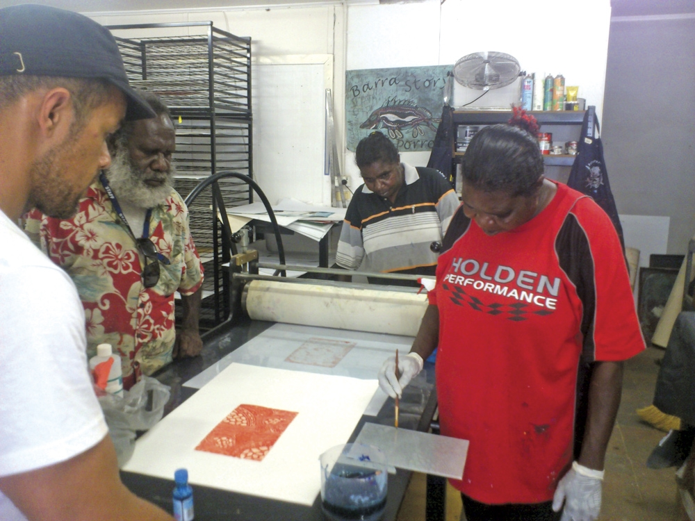 Num Print School in progress at Pormpuraaw